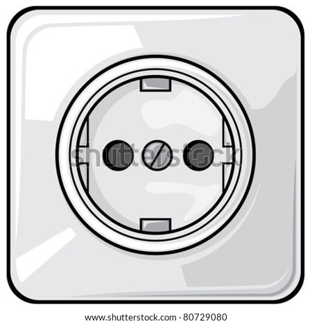 power plug (power outlet,  electric outlet)