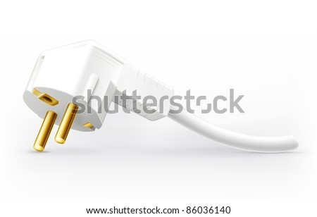 Power plug, vector