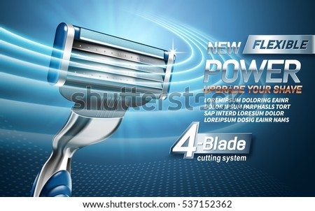 power shavers ad with four