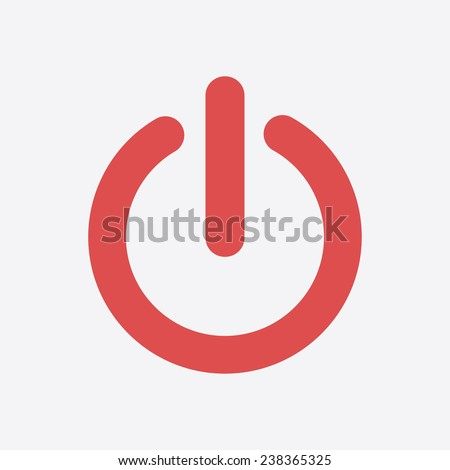 power sign icon flat design