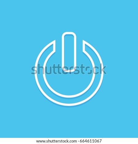 Power sign icon. Switch on symbol. Turn on energy. Flat style