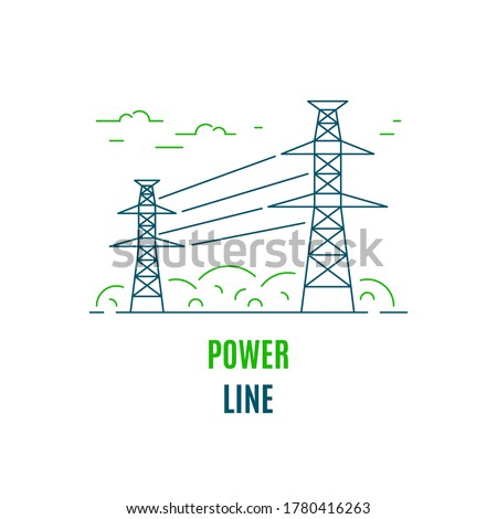 power supply line  logo or icon