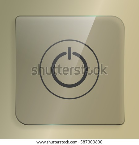Power switch icon. Flat design vector style. #587303600