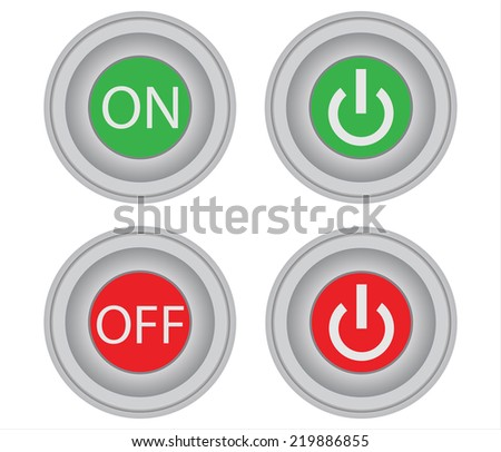On Off Button Vectors Download Free Vector Art Stock Graphics