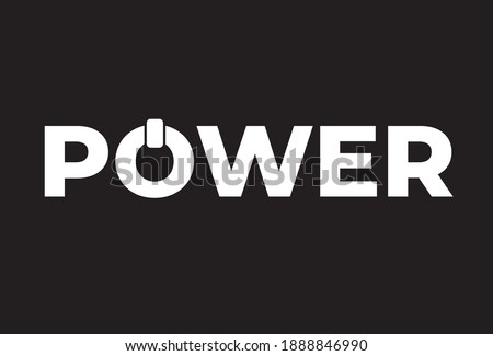 power text and o word look like