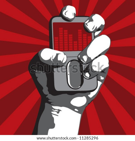 Power to the Music (Fist holding MP3 player)