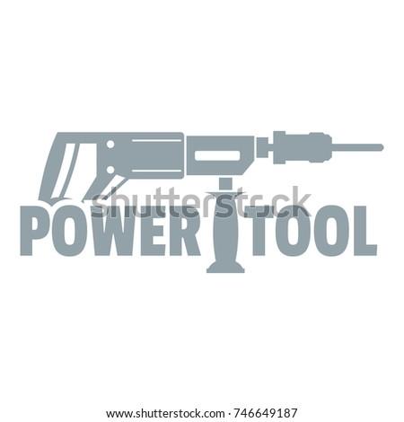 Power tool drill logo. Simple illustration of power tool drill vector logo for web