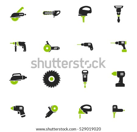 Power tools icon set for web sites and user interface