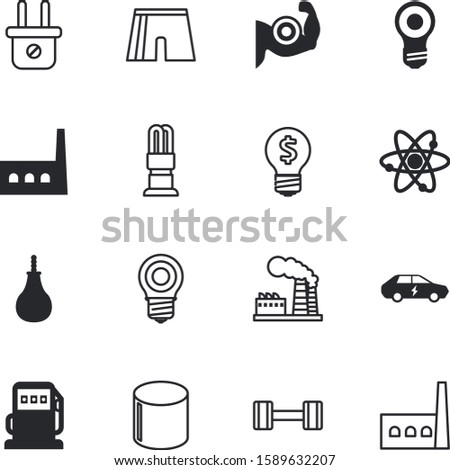 power vector icon set such as: violet, pump, pressure, biceps, hard, modern, structure, research, socket, lifting, fist, physical, arms, glowing, conservation, arm, elements, gasoline, hybrid, system
