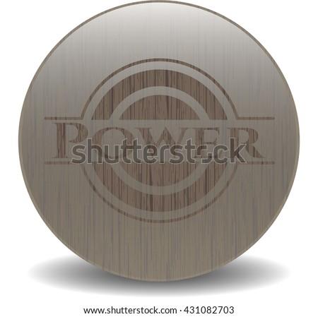 Power wood emblem. Vintage.