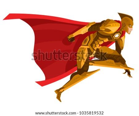 powerful armored superhero