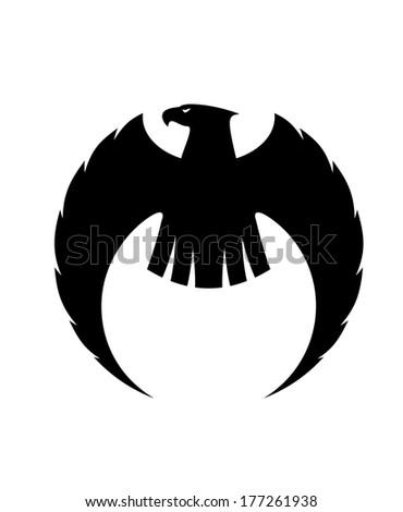 powerful eagle silhouette logo