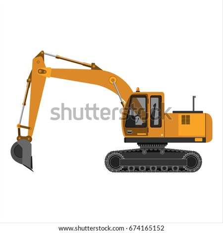 powerful excavator crawler