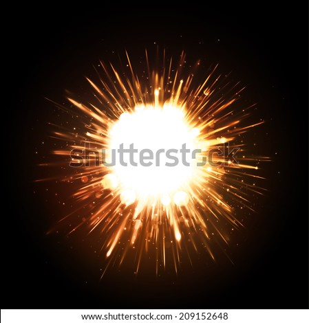 powerful explosion on black
