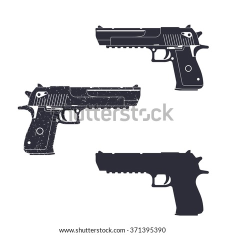 powerful pistol  gun silhouette