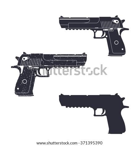 powerful pistol  gun silhouette