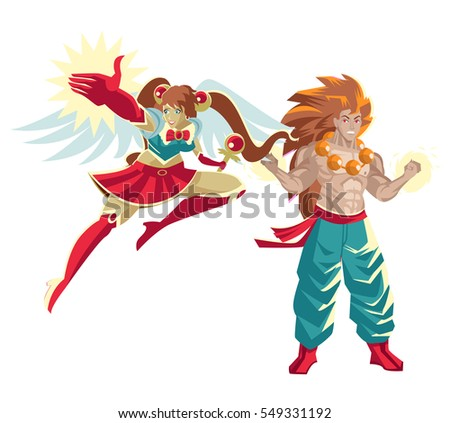 Two Japanese Martial Arts Anime Heroes Ez Canvas