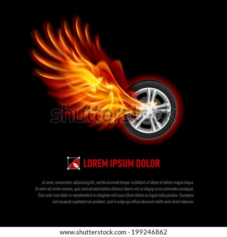 powerful wheel with orange