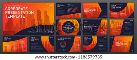 Powerpoint presentation templates set. Keynote presentation backgrounds. Use for presentation background, brochure design, website slider, landing page design, annual report.