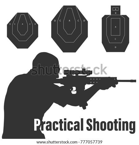 practical shooting man aiming