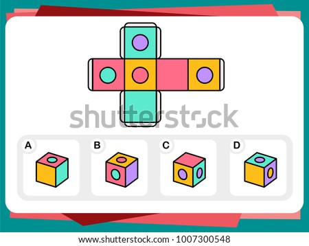 Stock Photo Practice Questions Worksheet for Education and IQ Test
