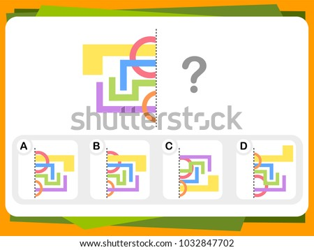 Stock Photo Practice Questions Worksheet for Education and IQ Test [Answer is A]