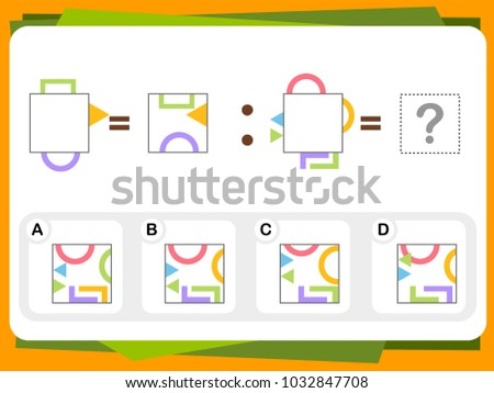 Stock Photo Practice Questions Worksheet for Education and IQ Test [Answer is B]