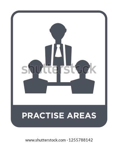 practise areas icon vector on