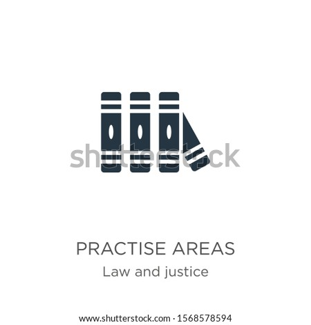 Practise areas icon vector. Trendy flat practise areas icon from law and justice collection isolated on white background. Vector illustration can be used for web and mobile graphic design, logo, eps10