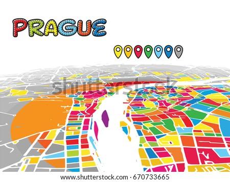 Praga horizonte de vector colorido - Descargue Gráficos y Vectores ...