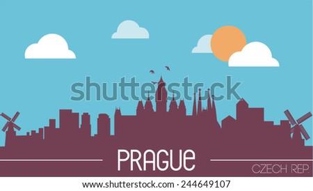 prague czech republic skyline