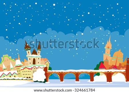prague czech republic winter