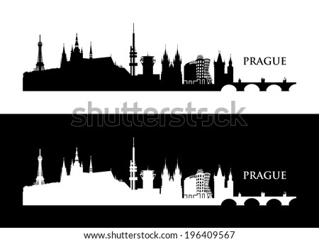 prague skyline   vector