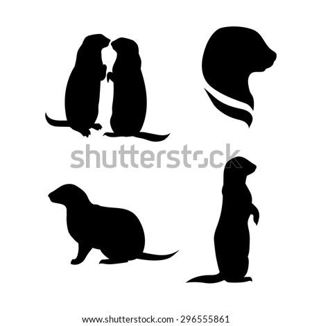 prairie dog vector silhouettes