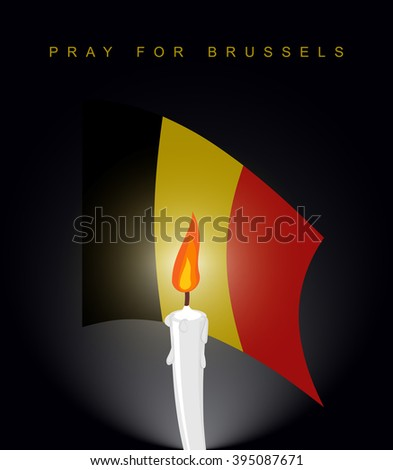 pray for brussels flag of