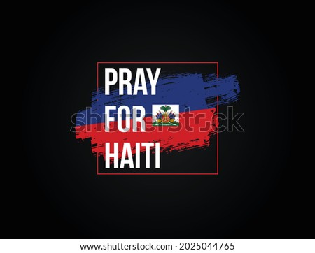 Pray For Haiti vector illustration. praying for Haiti effected by earthquake, wild fire and others natural disaster.  Stockfoto ©