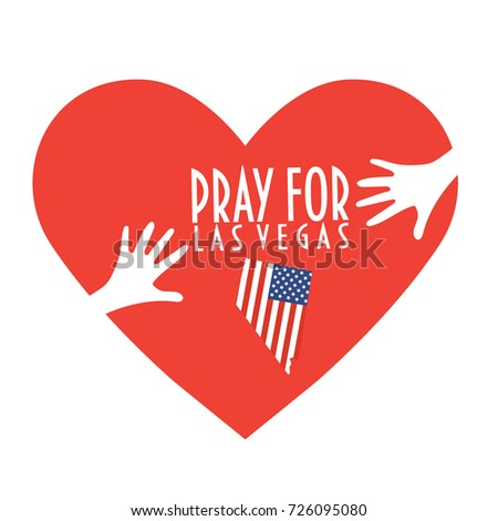 pray for las vegas vector