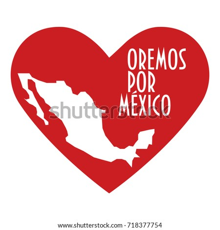 pray for mexico illustration