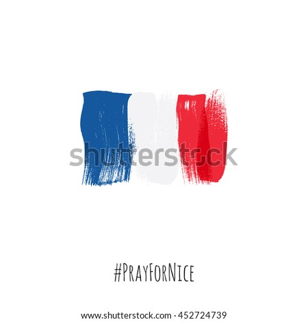 pray for nice hashtag with flag