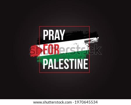 Pray for Palestine vector illustration Background. Free Palestine flag wallpaper, flyer, banner vector illustration