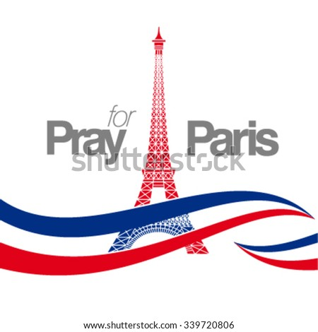 pray for paris  country flag