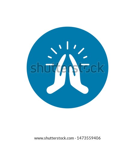 pray or hands together in