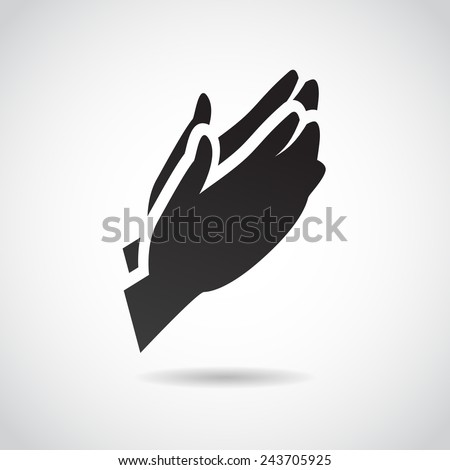 Prayer vector icon.