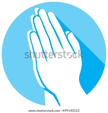 praying hands flat icon