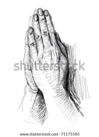 Praying Hands / realistic sketch (not auto-traced)