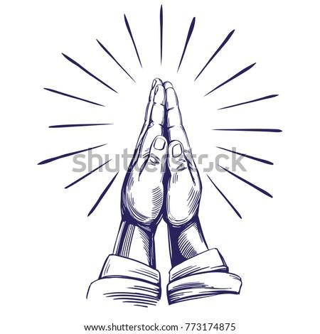 praying hands   symbol of