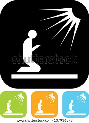 Praying man vector isolated