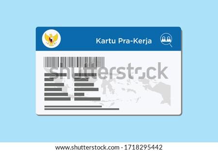 pre-work card ( Indonesian : kartu pra kerja )  Foto stock ©
