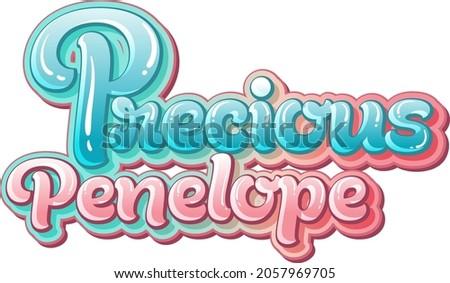 precious penelope logo text