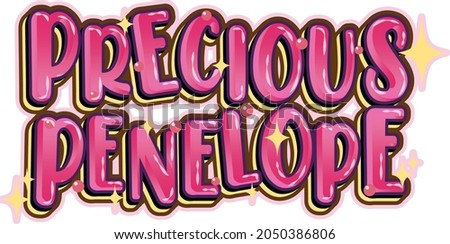 precious penelope word logo on